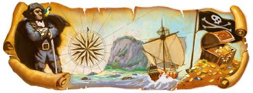 Robert Louis Stevenson's 160th Birthday-Google Doodles