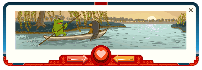 Frog and Bird - Google - Valentines day