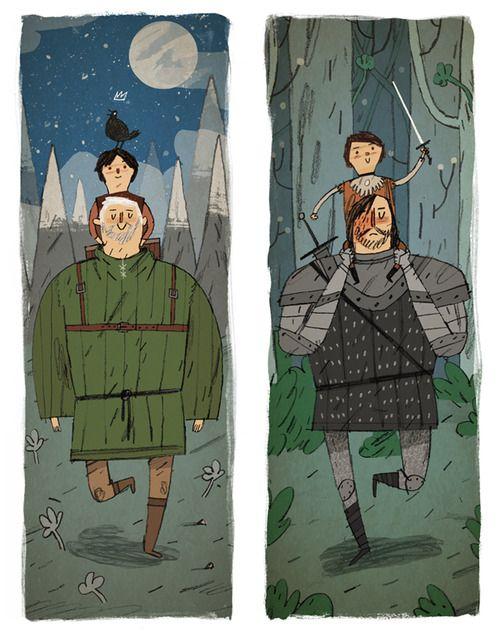 Game of Thrones Hodor Illustration by Joe Todd-Stanton