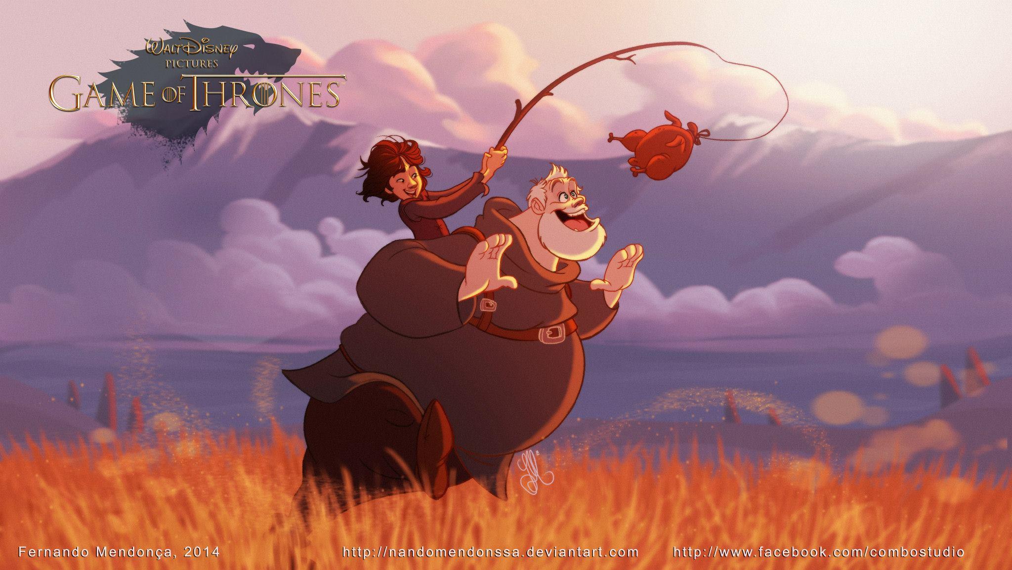 Hodor Disney Illustration - Fernando Mendonca