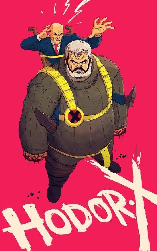 Hodor X-men Crossover Illustration