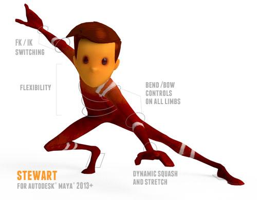 Meet Stewart - Animation Mentor Free Rig