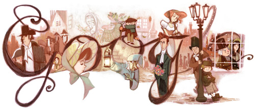 Charles Dickens' 200th Birthday_Google Doodles