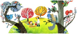 Chinese Arbor Day 2012_ Google Doodles