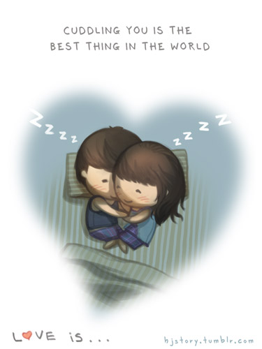 Love is... cuddling HJStory