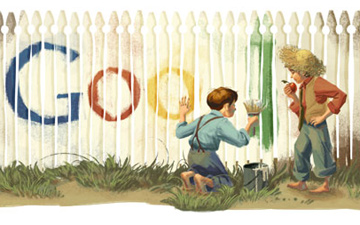Paint the Fence for Mark Twain's Birthday