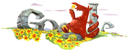 St. David's Day 2012_Google Doodles