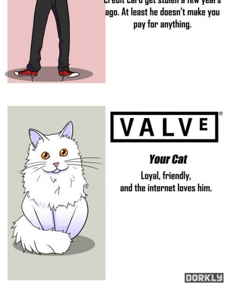 Valve- Infographic - If game companies were your friends