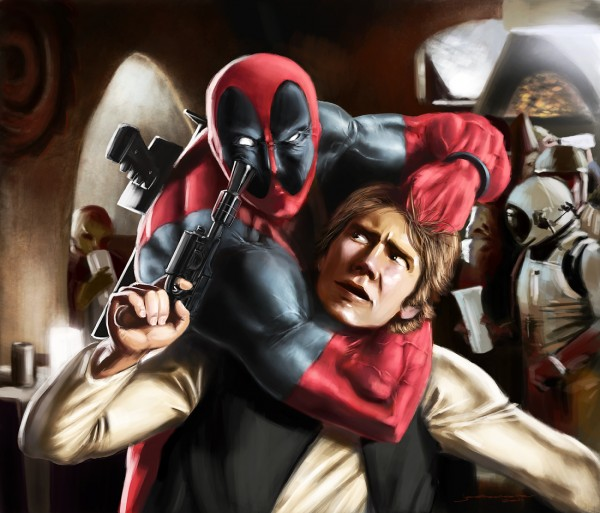 Deadpool and Han Solo Disney Star Wars Mashup