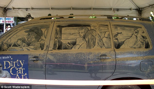 Scott Wade_Dirty_car_art_Honorable Mention
