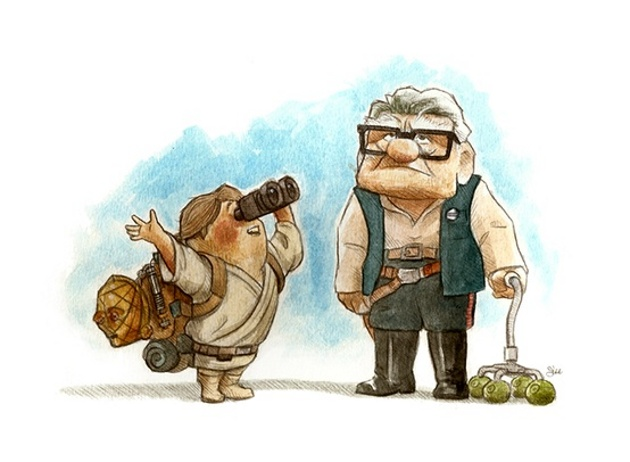 up-star wars disney mash up