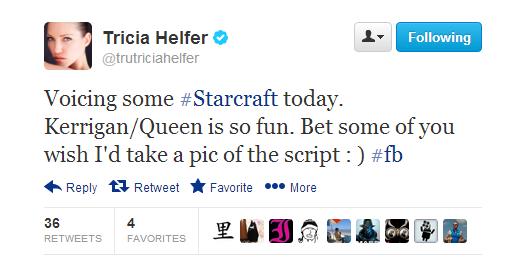 Sarah Kerrigan's Voice Actor - Tricia Helfer - Heart of the Swarm Starcraft 2