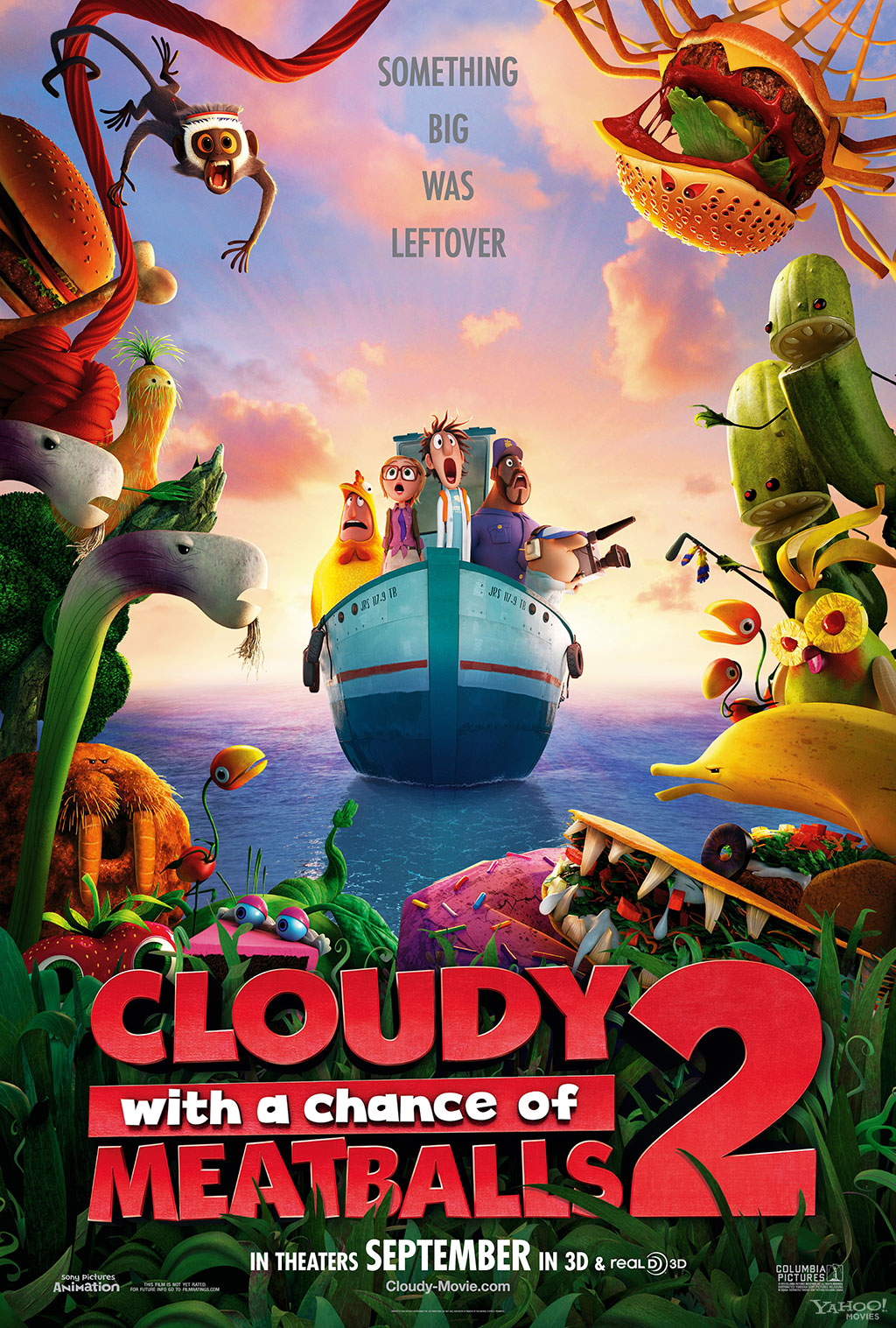 cloudy with a chance of meatballs 2 movie poster animation