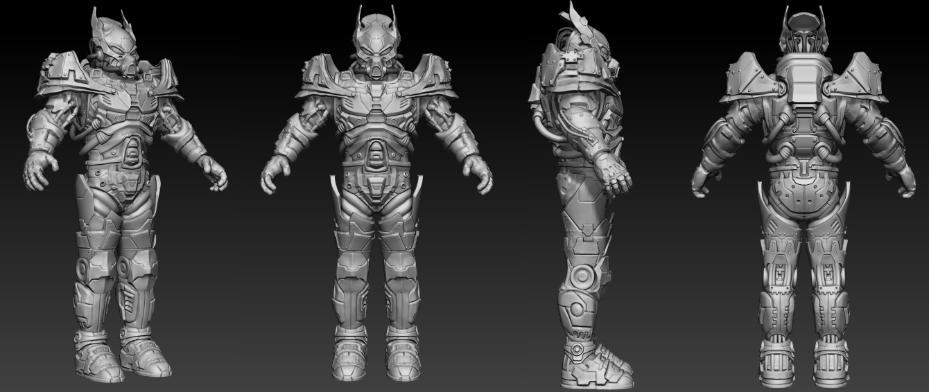 Intricacies Of Creature Design For Video Games - Power Armor Fallout 3 3d Render
