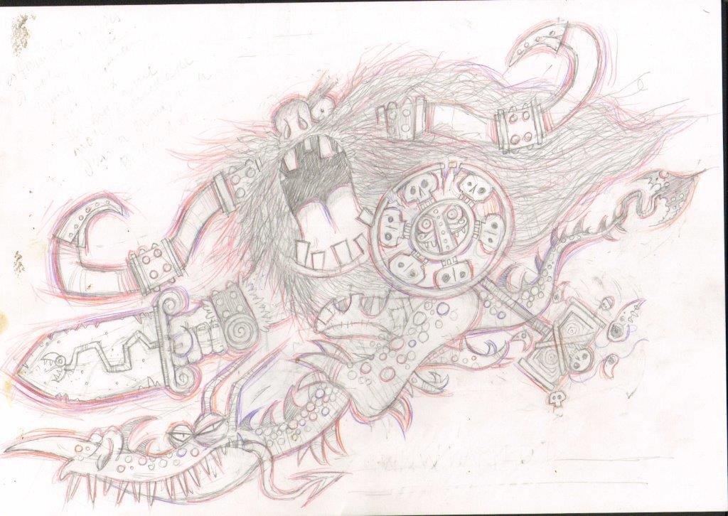 Viking Dragon Sketch - Eric Heyman