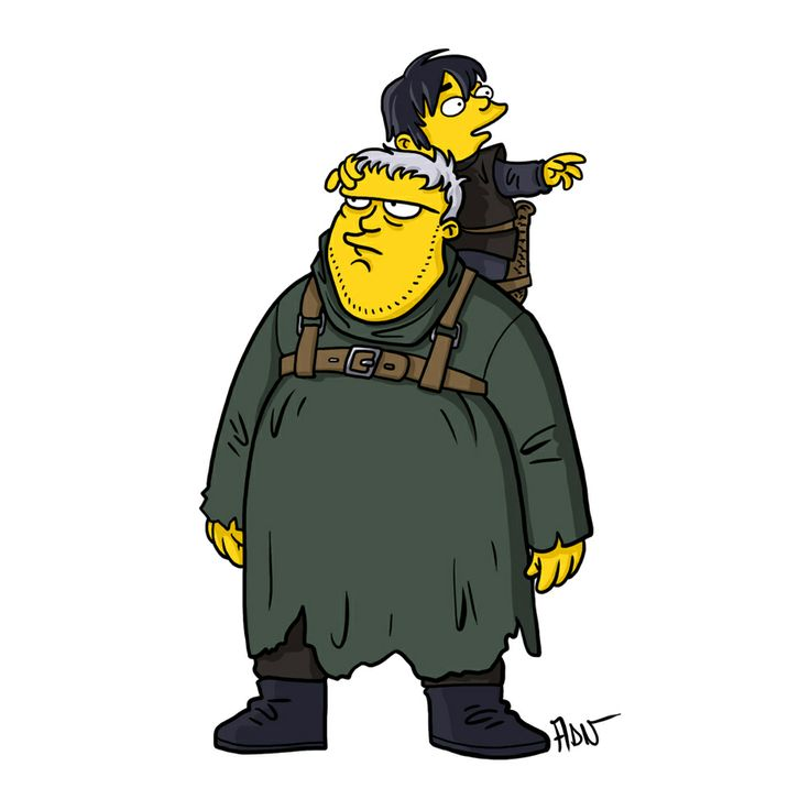 Game Of Thrones The Simpsons Hodor Illustration