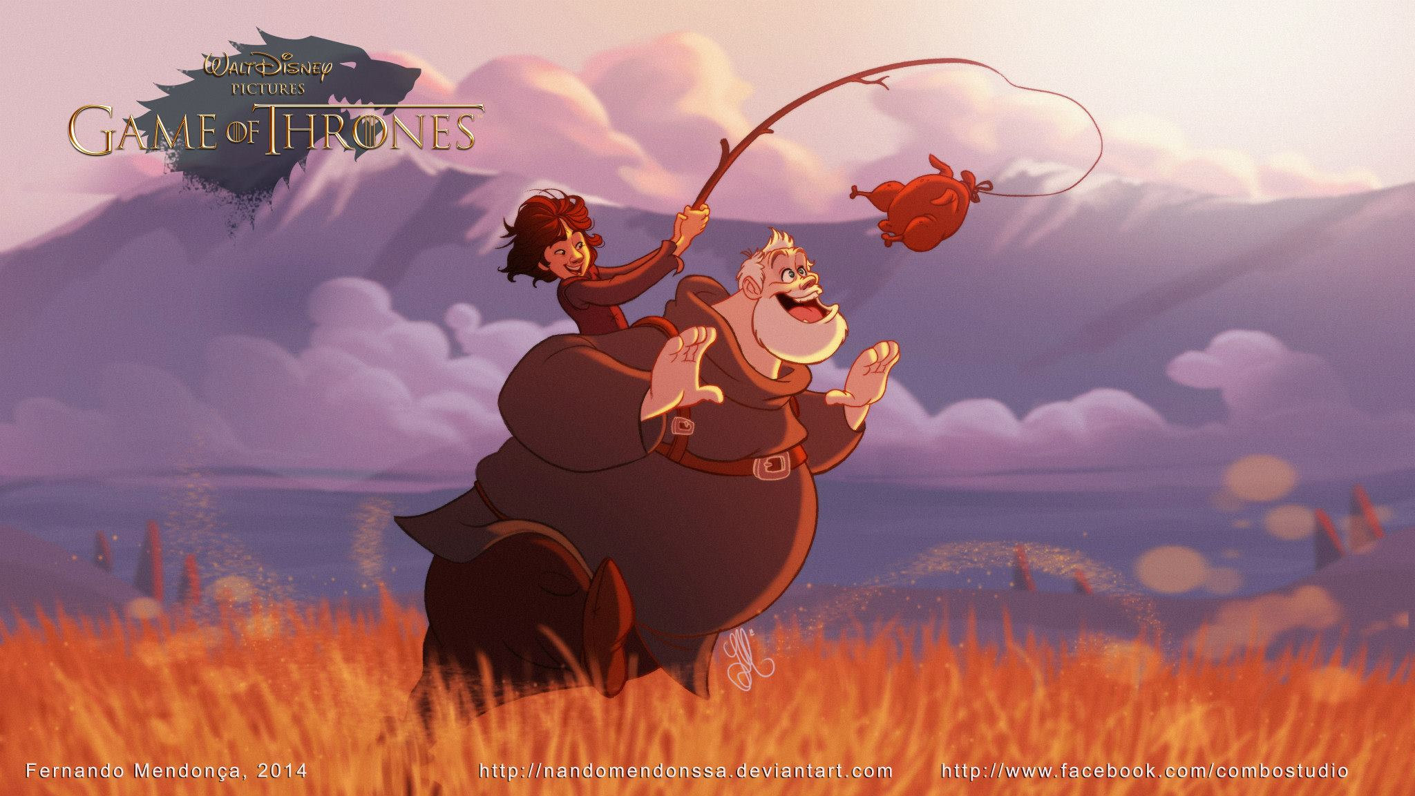 Hodor Disney Illustration - Fernando Mendonca