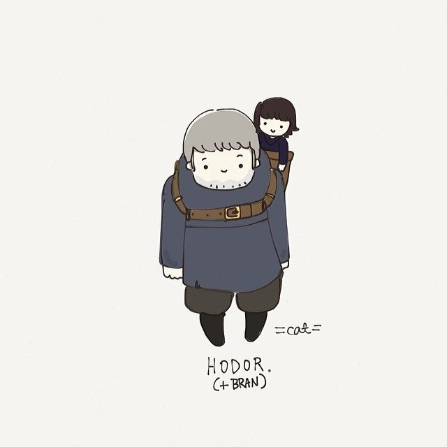 Hodor Illustration by Cat Plus Mouse