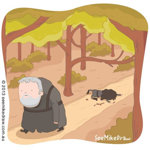 Hodor Illustration by See Mike Draw
