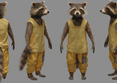 Guardians of the Galaxy VFX Visual Effects Breakdown Rocket Full Body