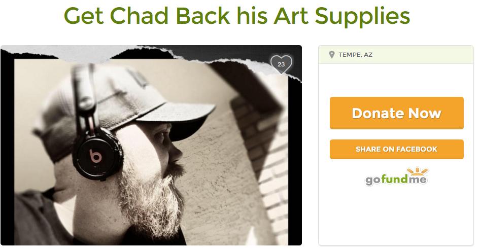 Chad Heinrich Artist Gear gets stolen