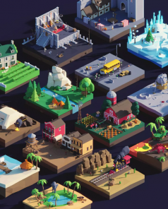 Beautiful Low Poly 3D Asset Pack from PolyPerfect