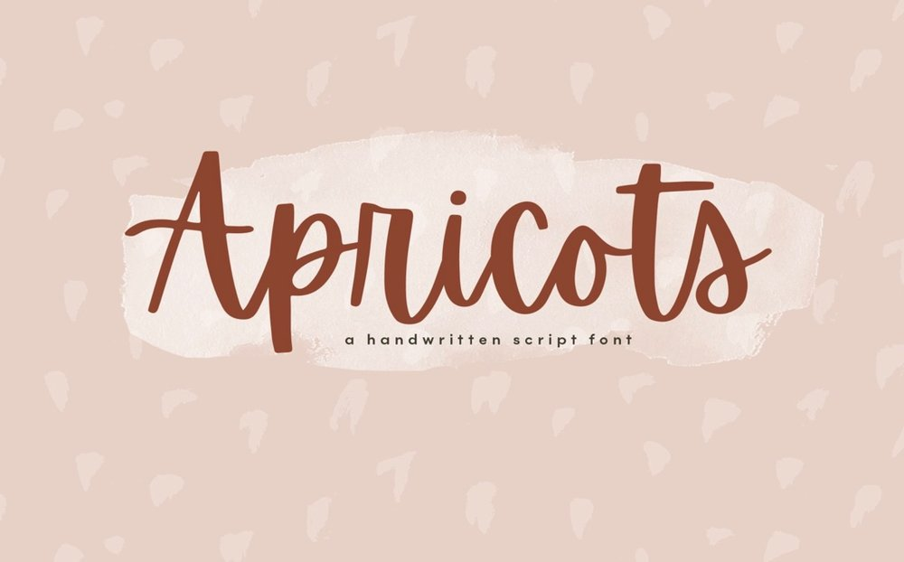 Apricots Calligraphy font
