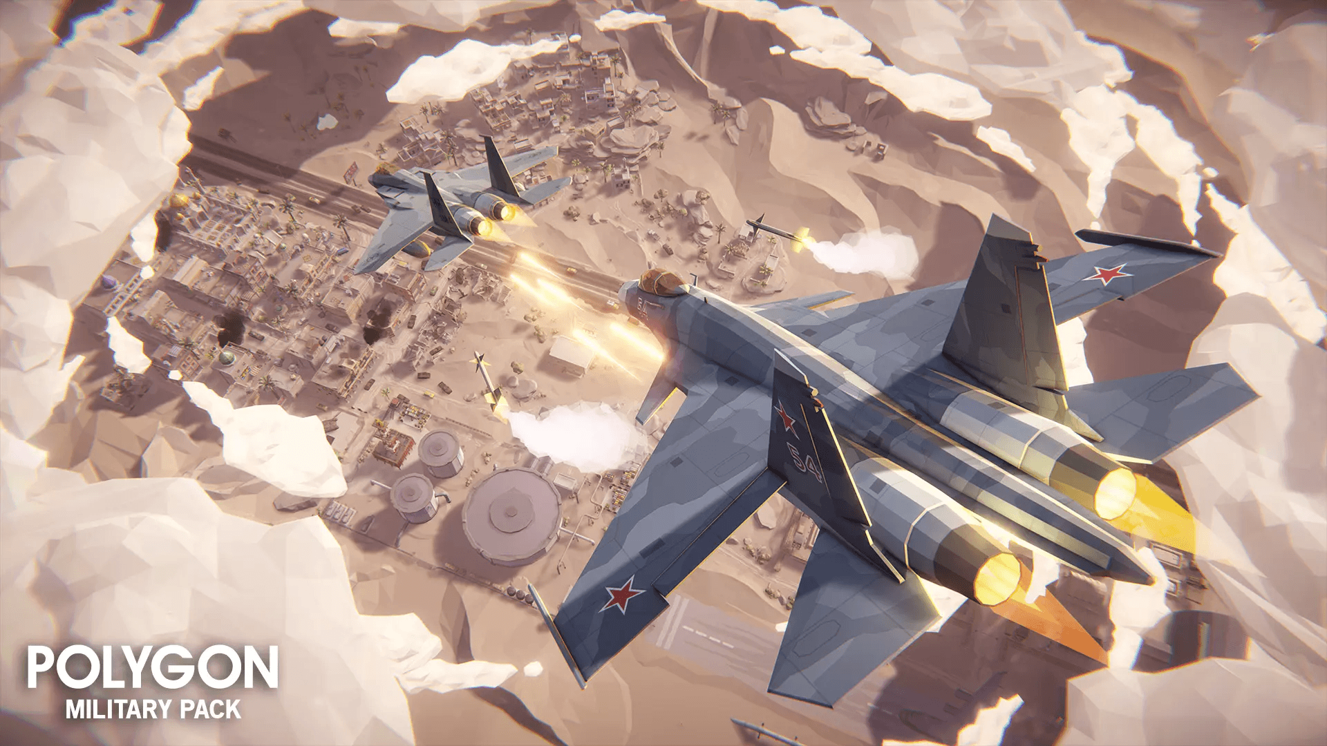 Low Poly Military Pack Jets
