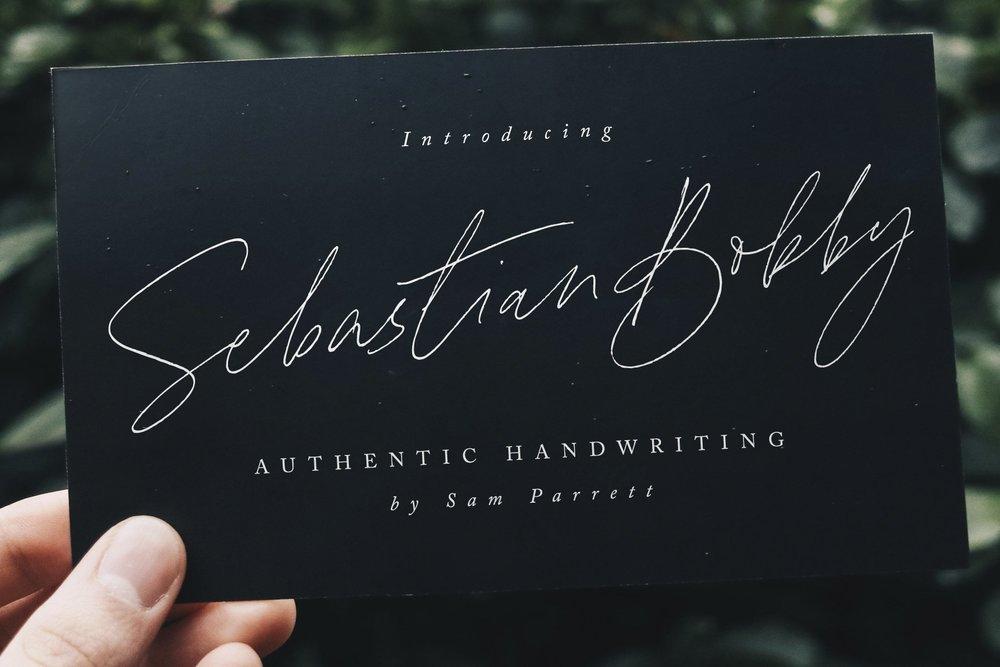 Sebastian Bobby Calligraphy