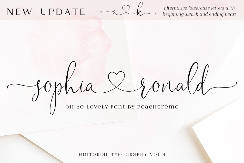 Sophia Ronald font