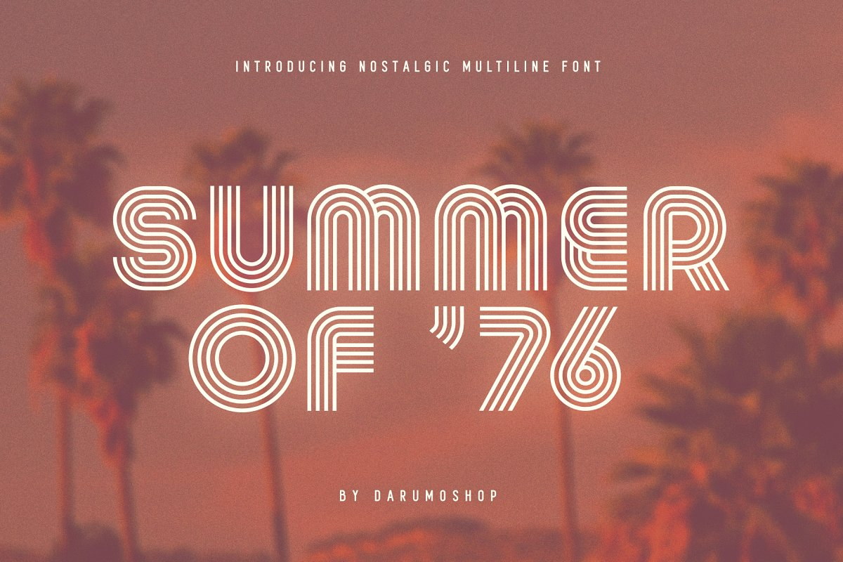 summer of 76 70s font