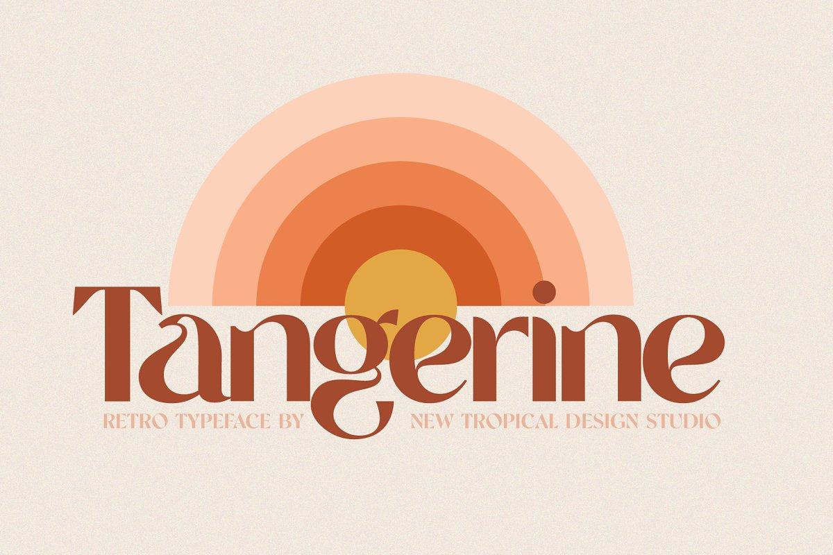 tangerine font