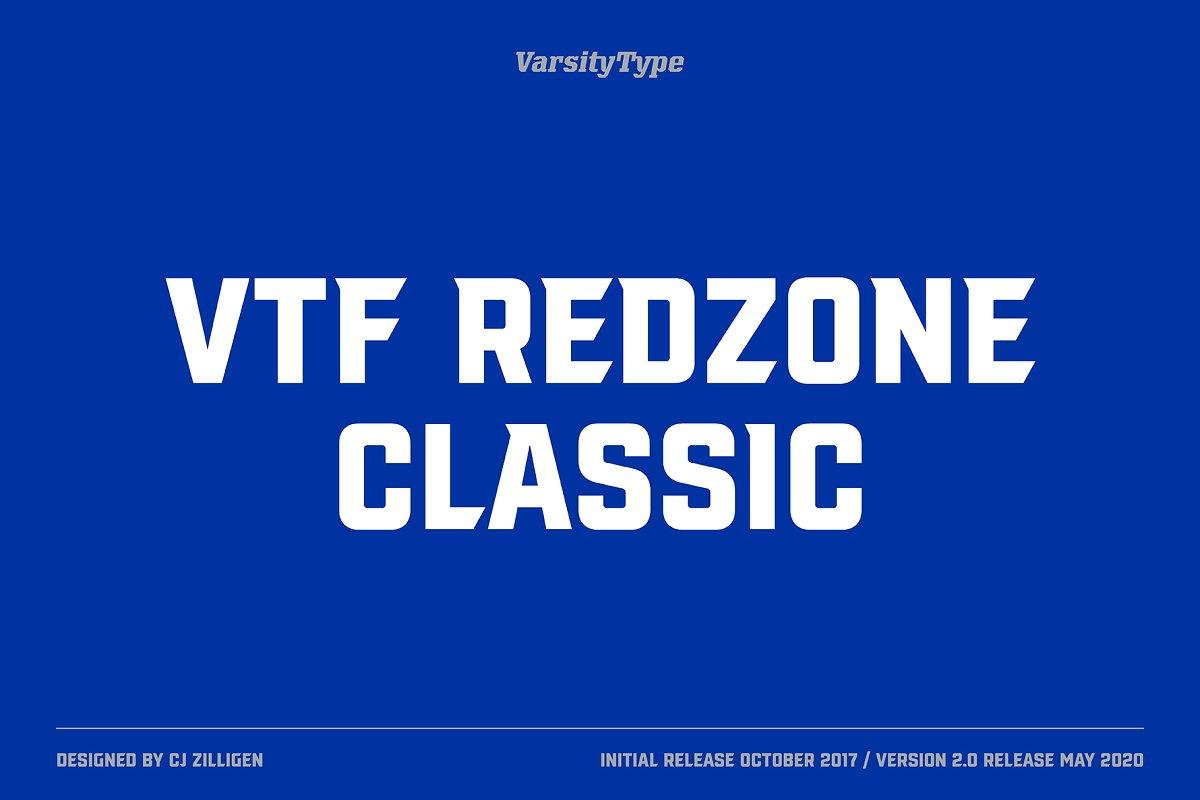 redzone font