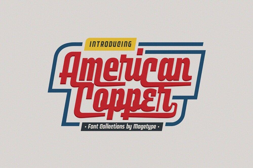 American Copper 50s font