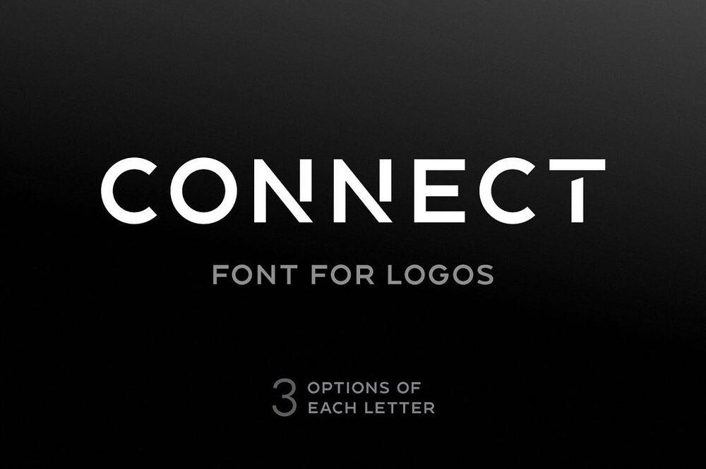 Connect futuristic font