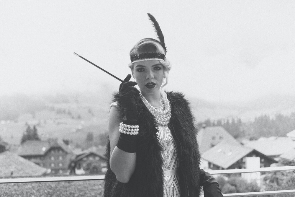 Flapper Lady with cigarette