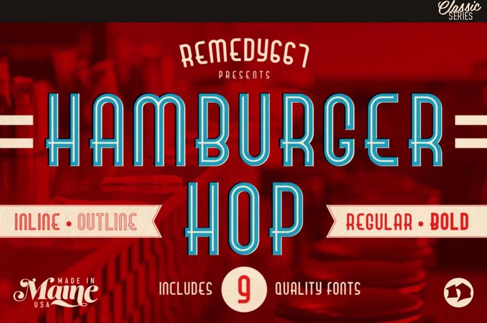 Hamburger Hop Font Pack