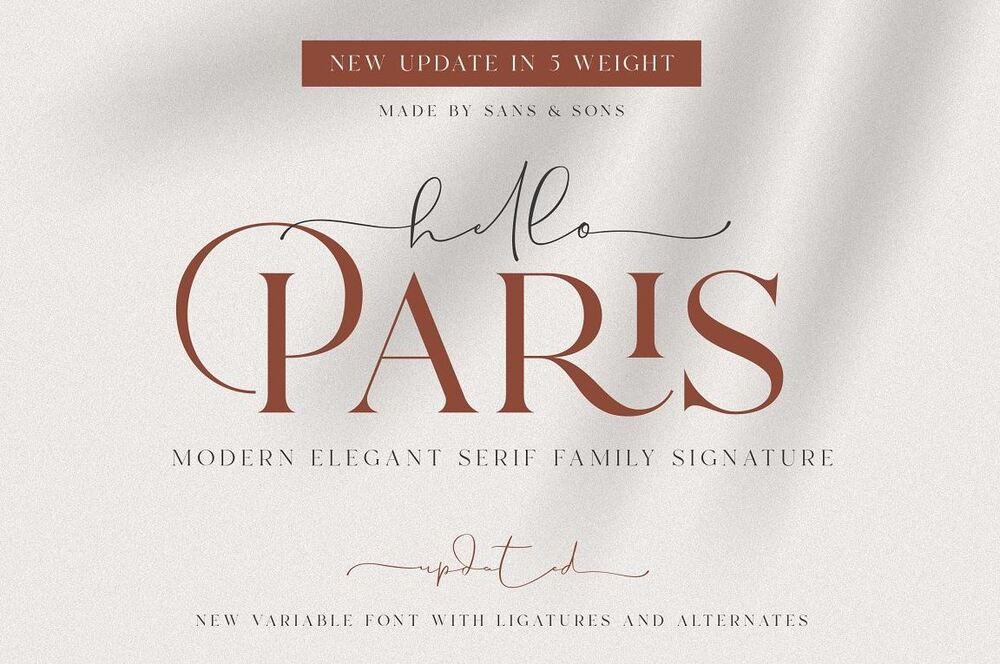 Hello Paris Font Picture