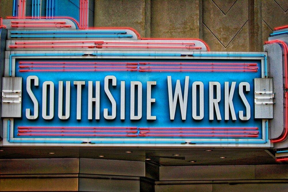 Large 50s billboard of SouthSide Works