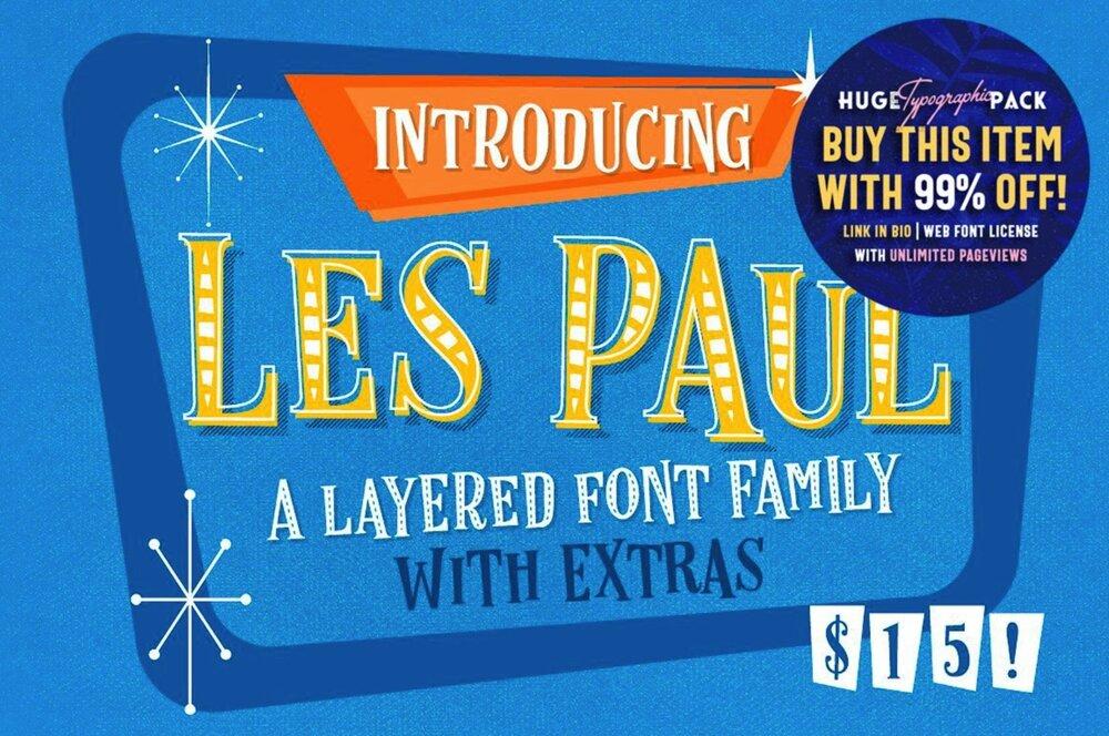 Les Paul Layered Fonts