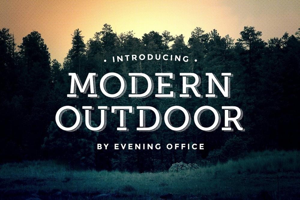 Modern outdoor font