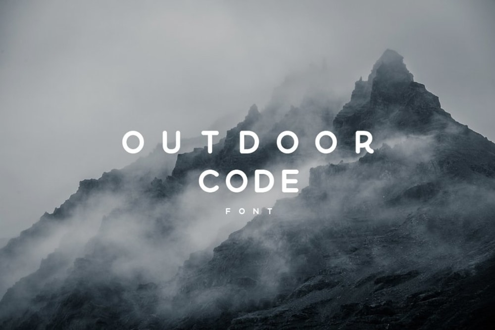 Outdoor Code Font