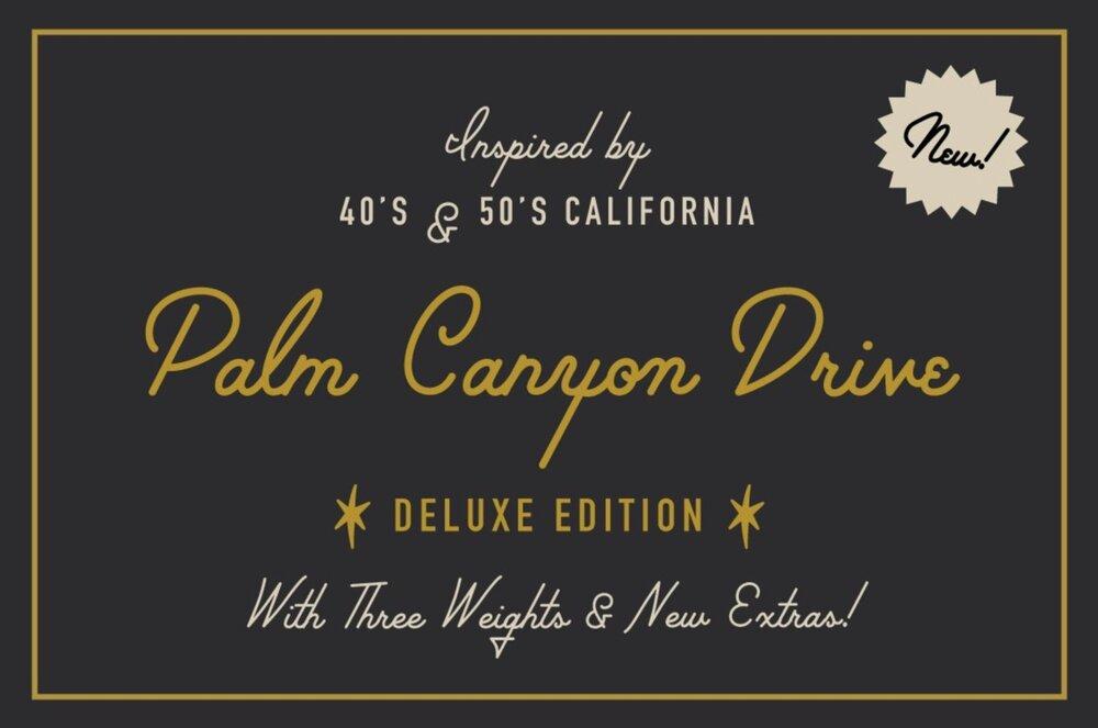 Palm Canyon Drive 50s font