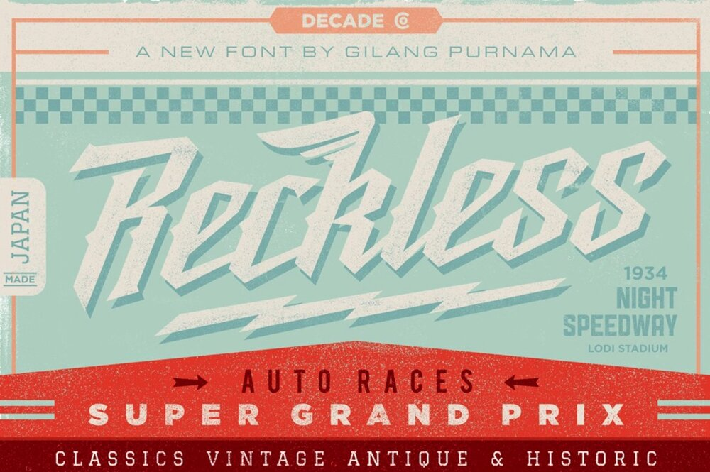 Reckless 1950s retro font