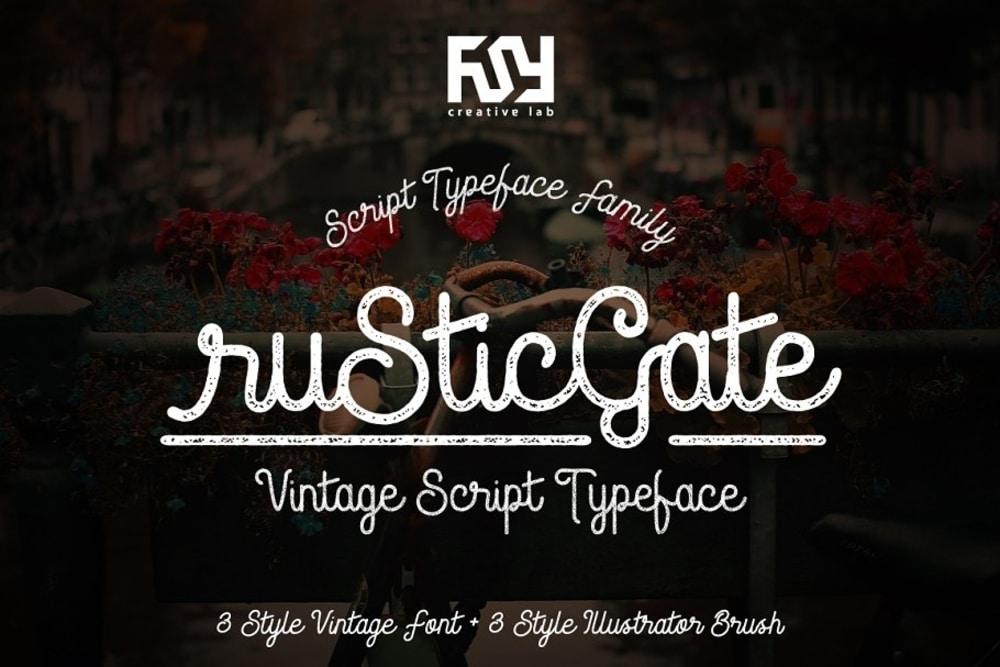 Rustic Gate Font