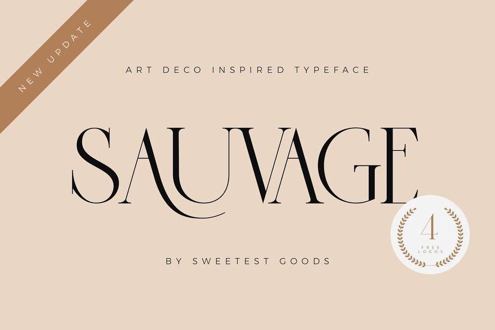 Sauvage Art Deco font