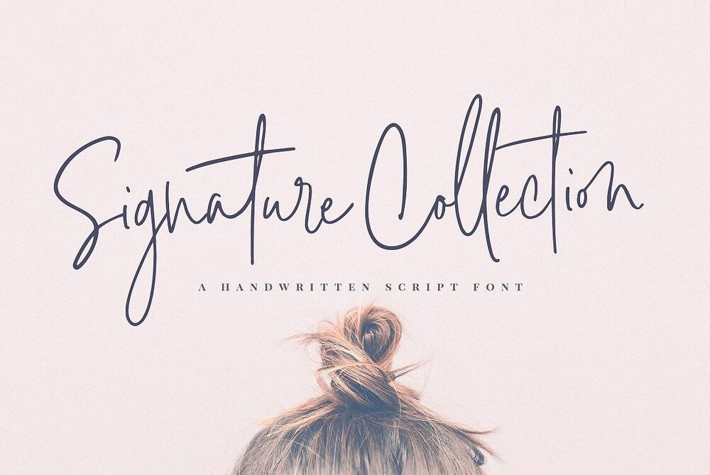 Signature Collection Popular font