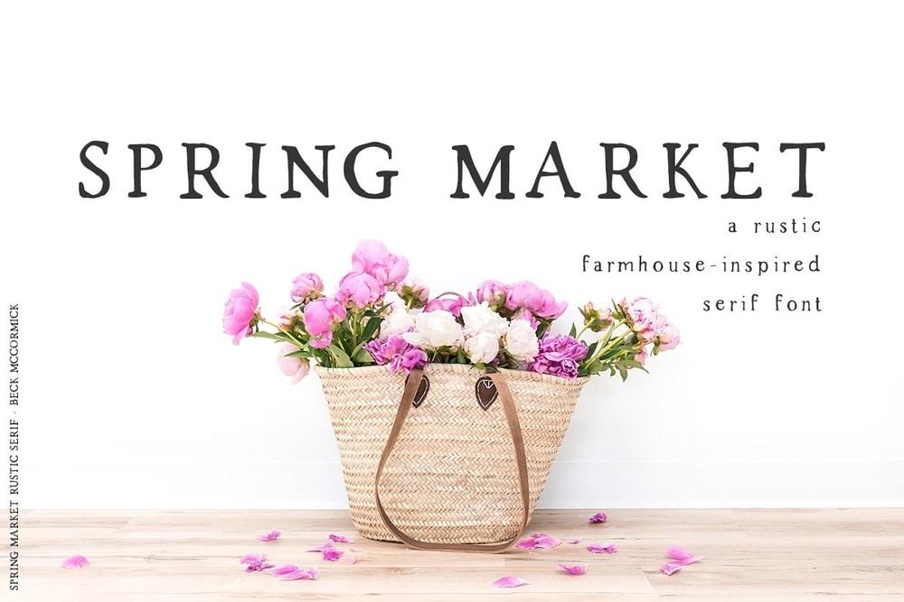 Spring Market font