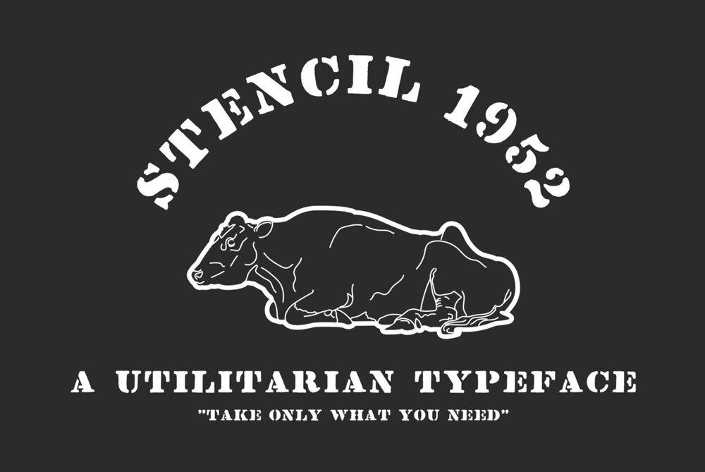 Stencil 1952 font