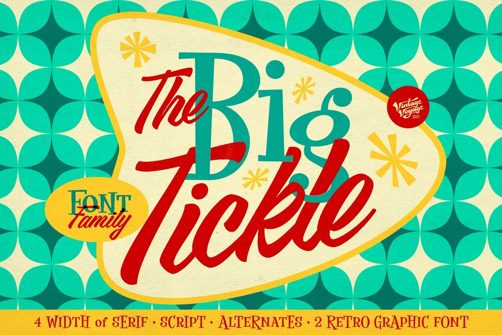 The Big Tickle Font Family Pack